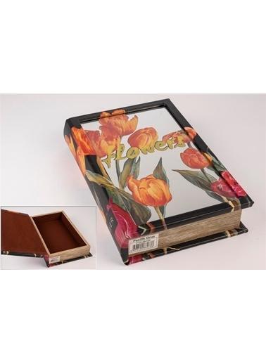 Mikasa Moor Turuncu Lale Aynalı Kitap Şek Kutu  17X26Cm Oranj